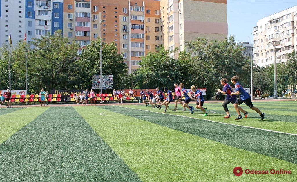 В Суворовском районе Одессы состоялся детский фестиваль регби