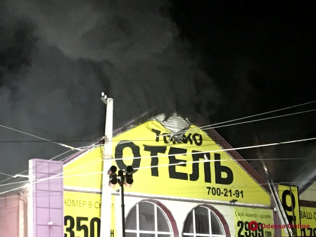 На Водопроводной горит отель «Токио» (фото, обновляется)