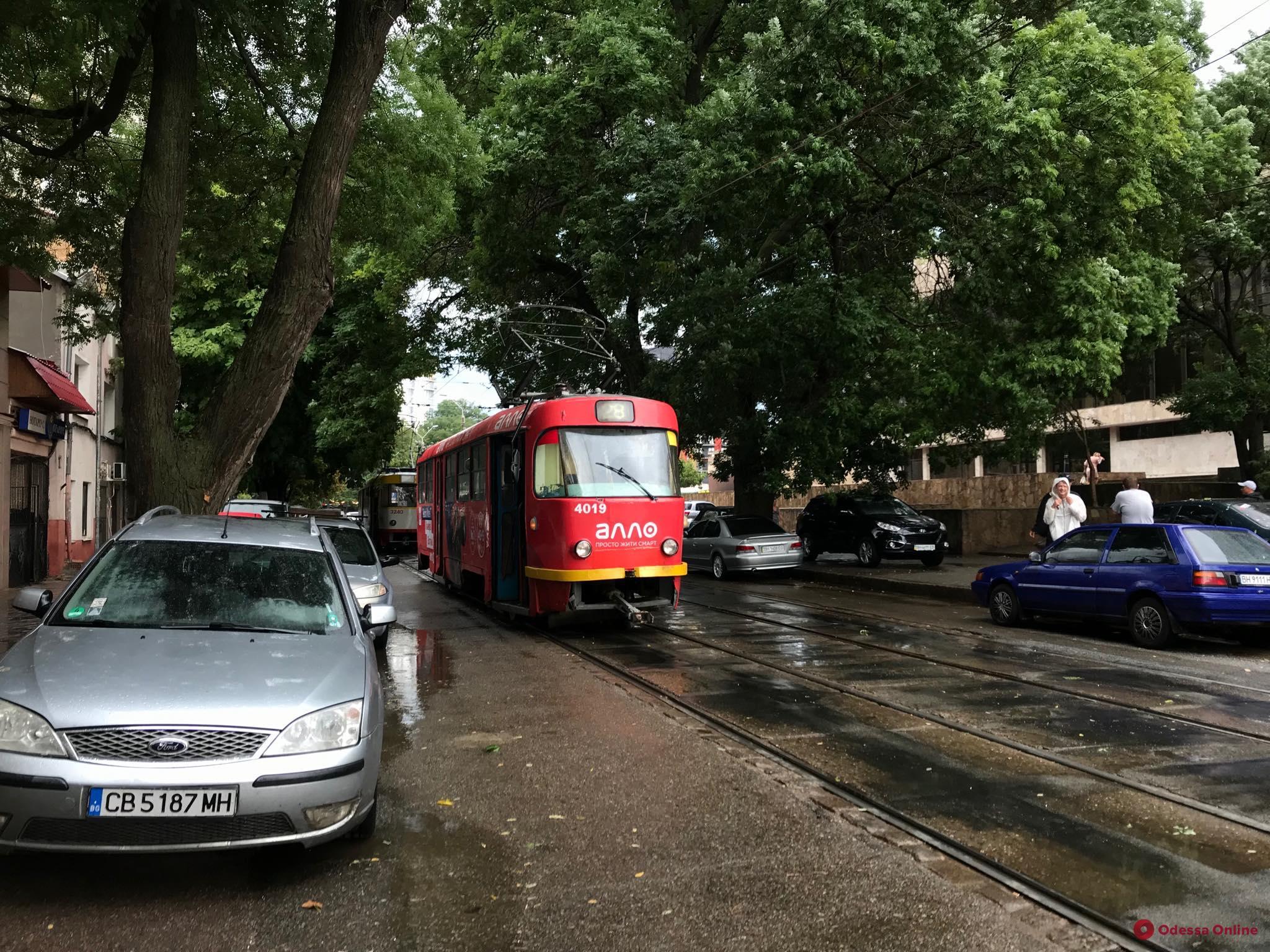 Одесса: приостановлено движение нескольких трамваев