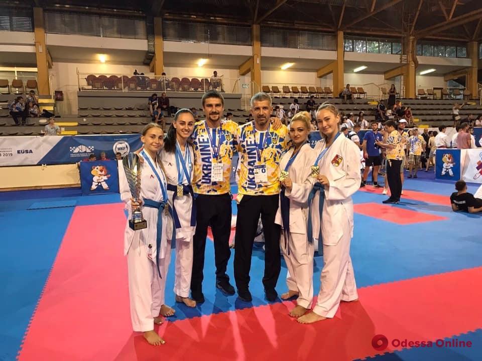 Каратэ: одесситы завоевали медали European Universities Combat Games