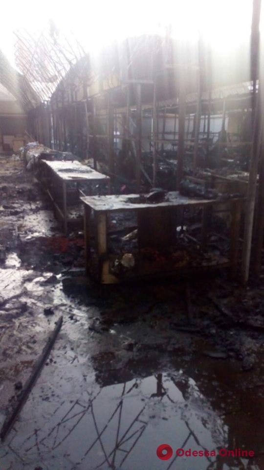 На рынке «Северный» во время пожара сгорели семь торговых павильонов (обновлено)