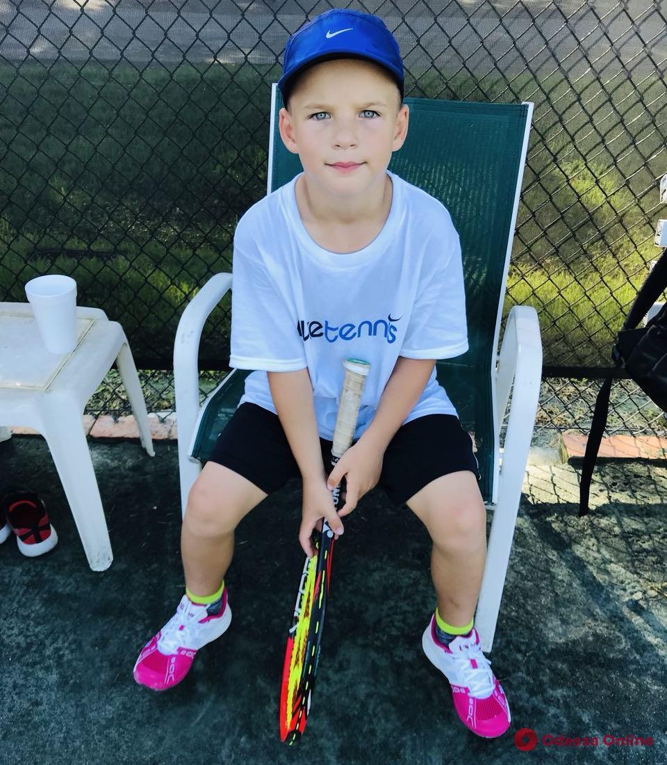 Самый юный теннисист Украины из Одессы активно тренируется в США