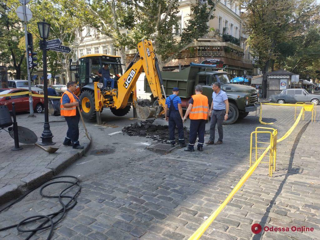 На Дерибасовской произошла утечка газа (фото)