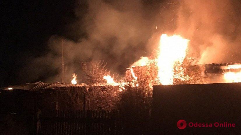 В Одессе во время пожара сгорел частный дом (видео)