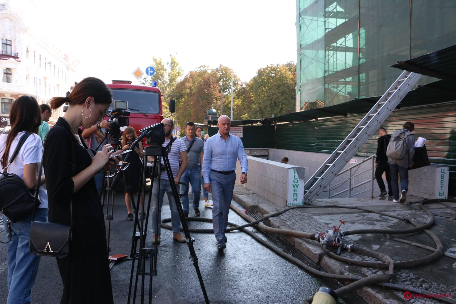 «Только совместно мы наведем порядок»: мэр Одессы прокомментировал пожар в доме Либмана