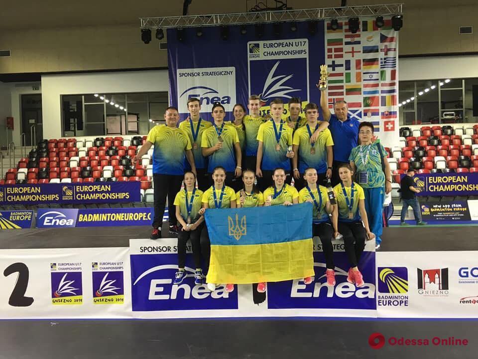 Бадминтон: одесситы стали призерами чемпионата Европы