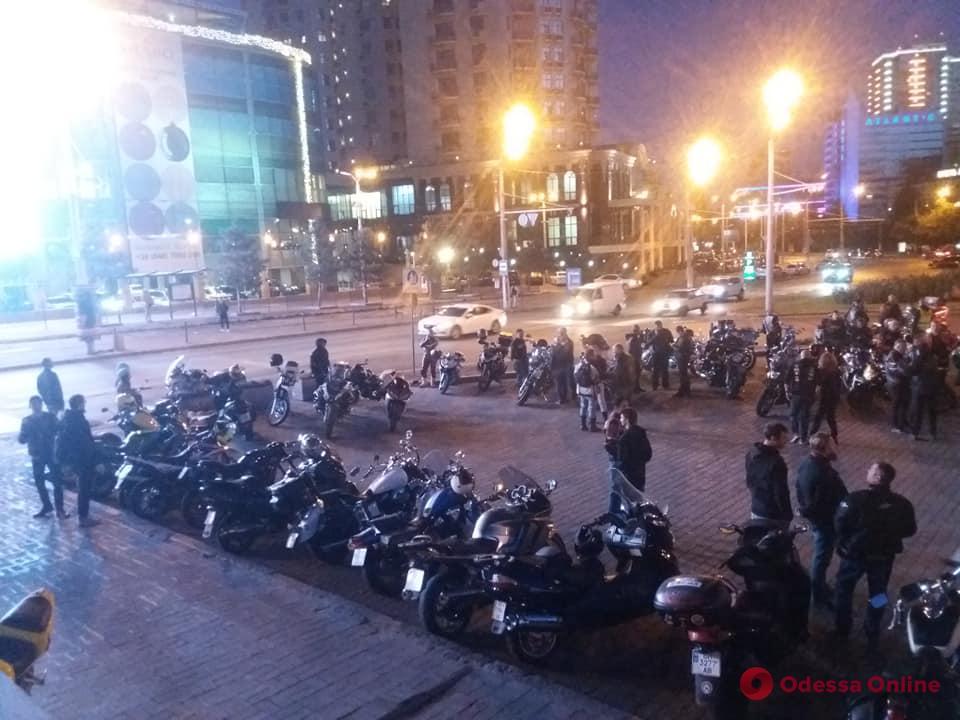 В Одессе почтили память погибших мотоциклистов (видео)