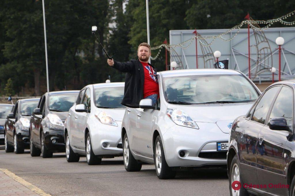 В Одессе побили рекорд Украины по количеству электрокаров в автопробеге (фото, видео)