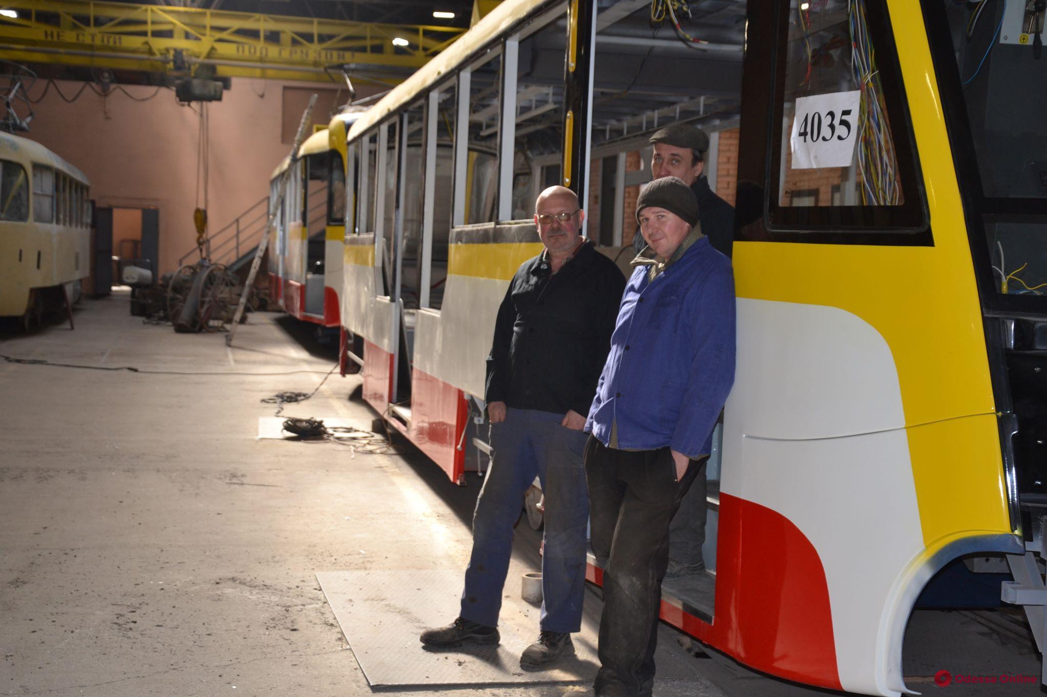 Наши «Одиссеи»: в мастерских Одесгорэлектротранса «родились» еще два новых трамвая (фото)