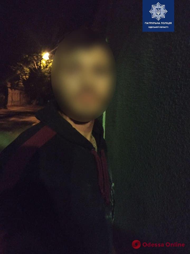 Одесские патрульные ночью с погоней ловили стрелка
