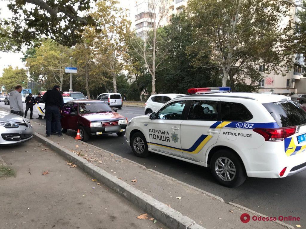 Одесские патрульные ловили неадекватного водителя