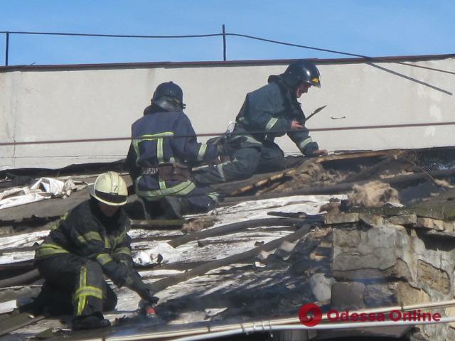 В Одессе горел бывший завод кинооборудования