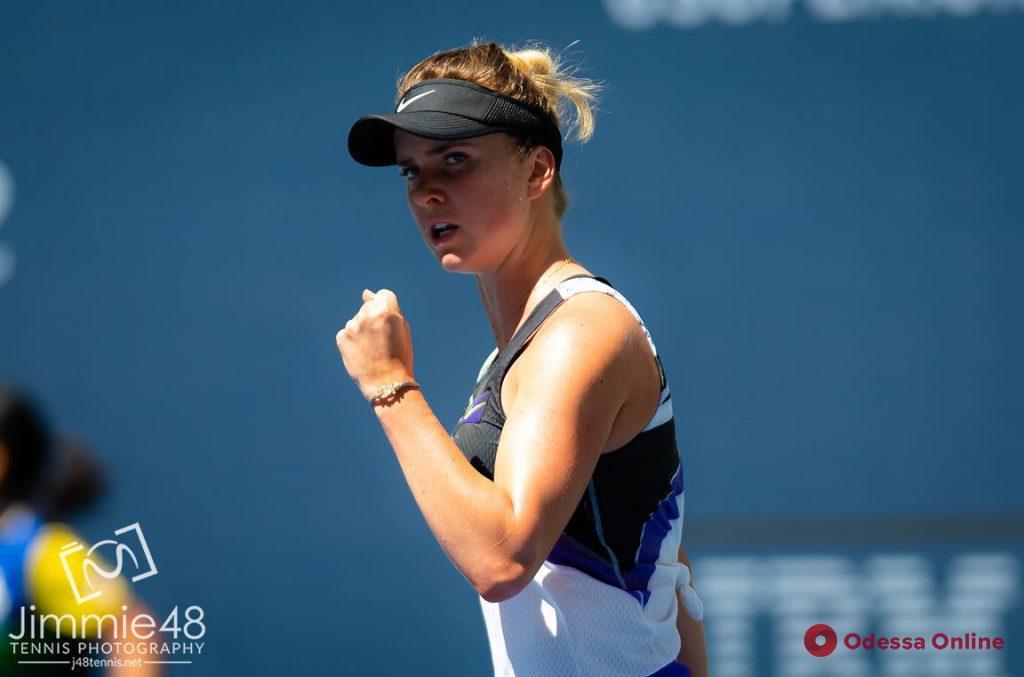 Теннис: Элина Свитолина вышла в четвертьфинал супертурнира в Китае