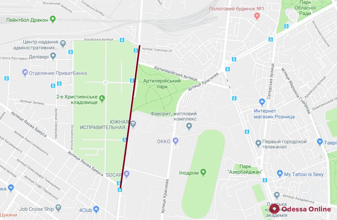 В Одессе на сутки перекроют участок Люстдорфской дороги