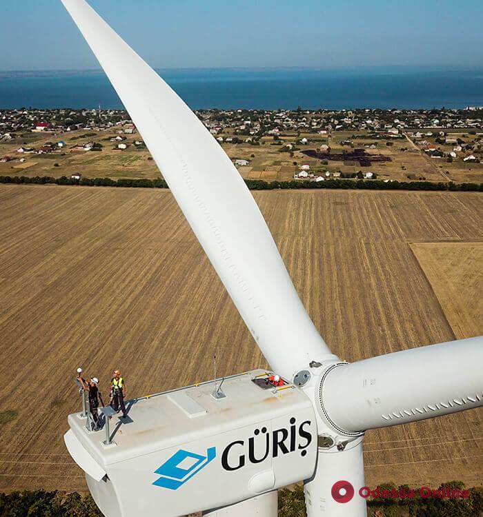 В Одесской области запустили крупнейшую ветряную электростанцию