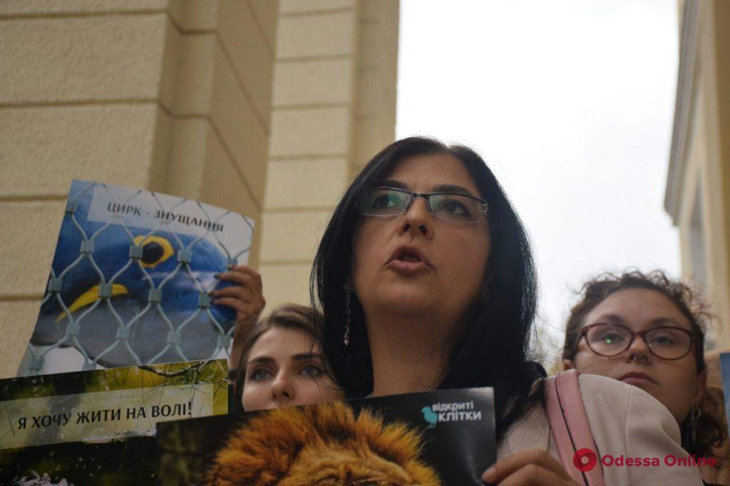 Дело Одесского цирка: зоозащитники устроили мини-митинг под стенами суда (фото)