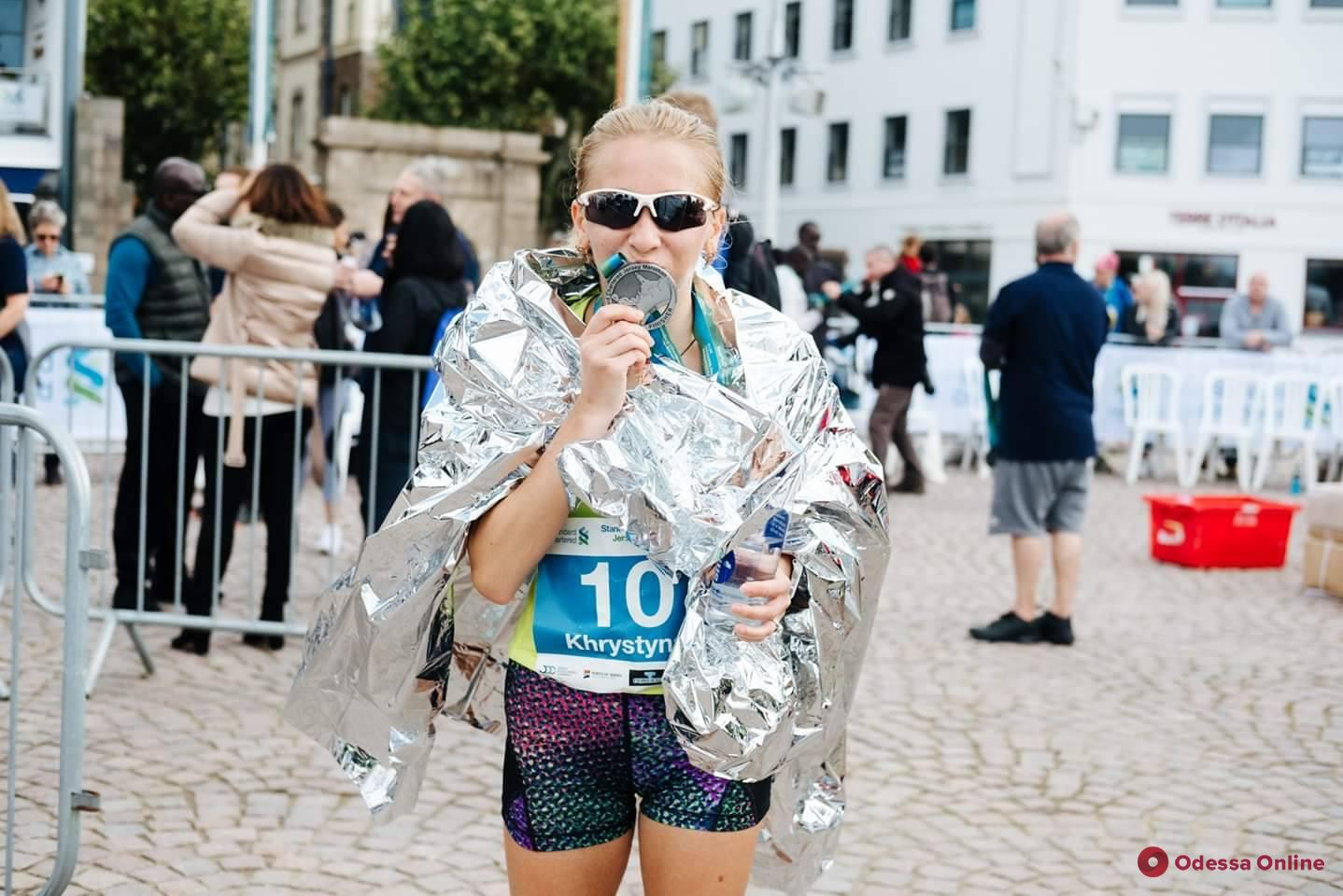 Одесситка заняла второе место в марафоне на острове Джерси