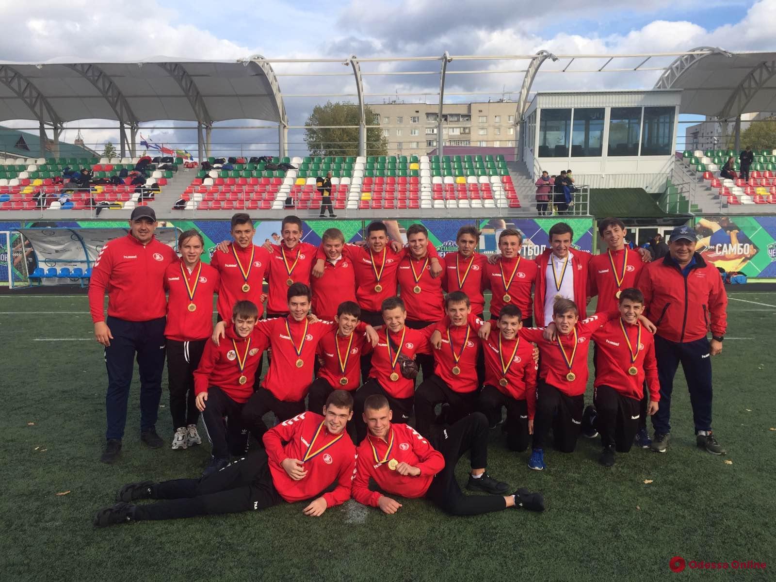 Юные одесские регбисты завоевали два первых места в чемпионате Украины