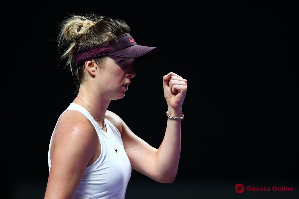 Теннис: уроженка Одессы стартовала в Итоговом турнире WTA с победы над второй ракеткой мира