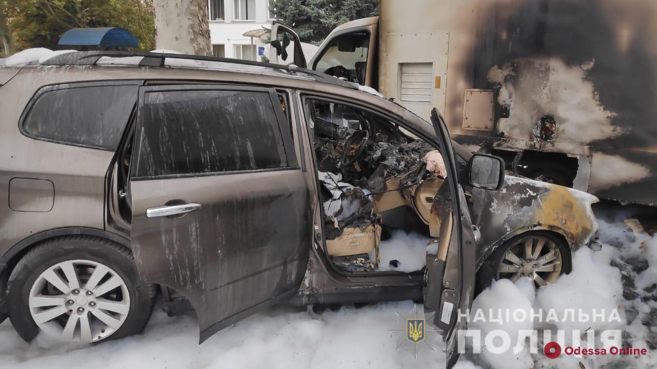 В Черноморске сгорела машина