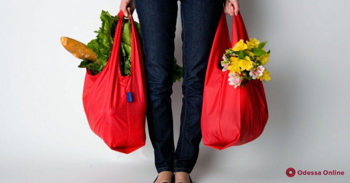 Одесситы смогут обменять полиэтиленовые пакеты на тканевые сумки