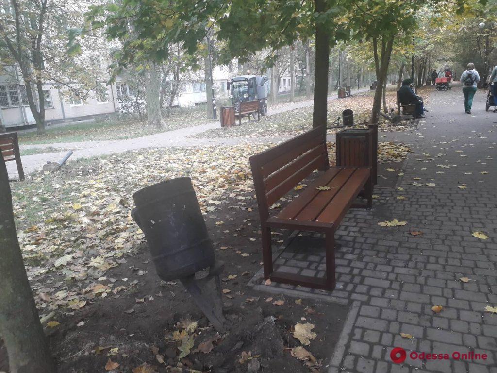 В Одессе благоустраивают Крымский бульвар