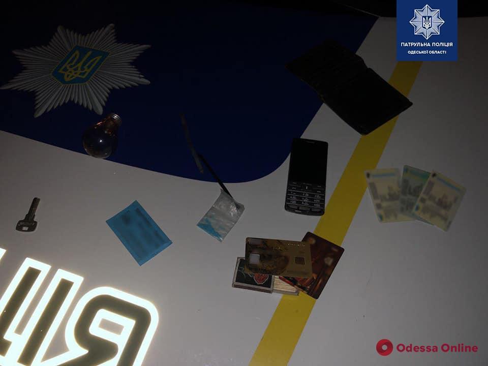Одессит с наркотиками настойчиво предлагал патрульным взятку