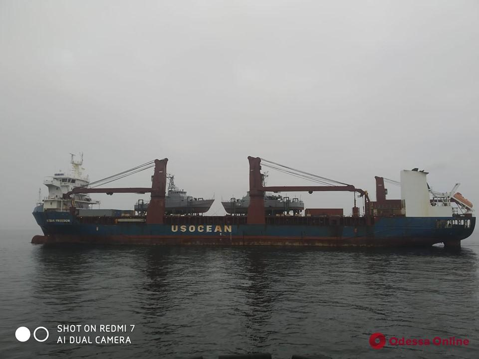 В Одессу доставили американские патрульные катера
