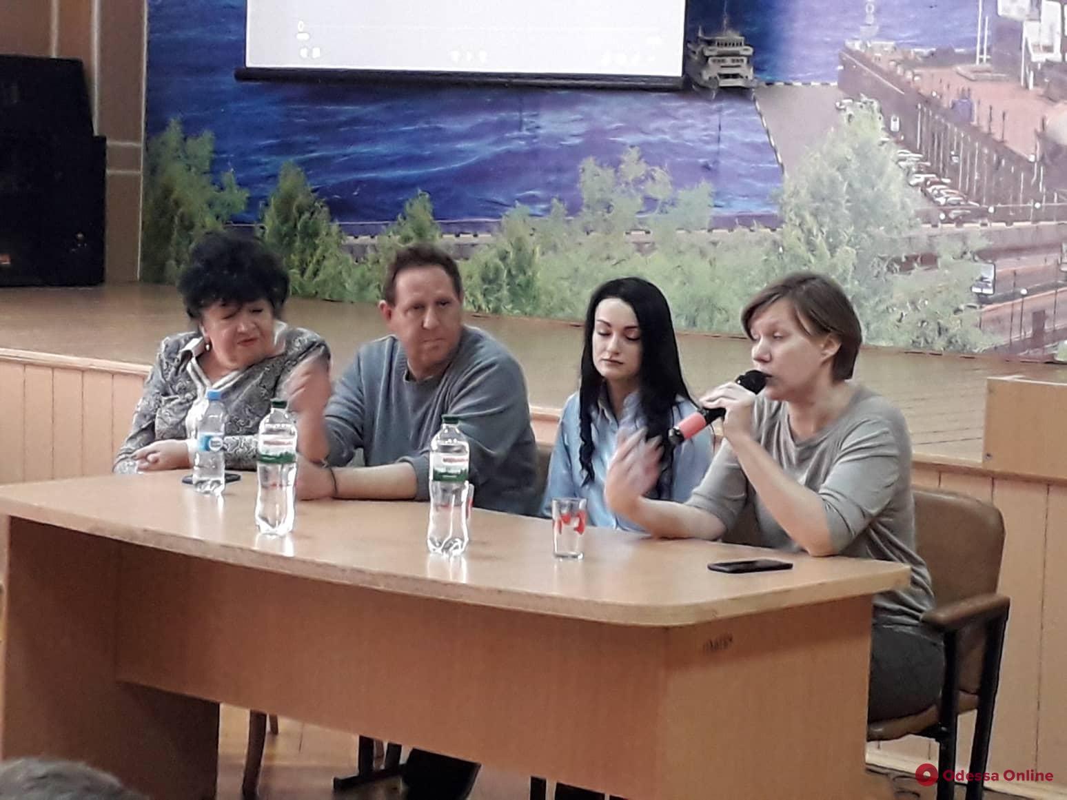 Американский режиссер рассказал одесским школьникам о буллинге (фото, видео)