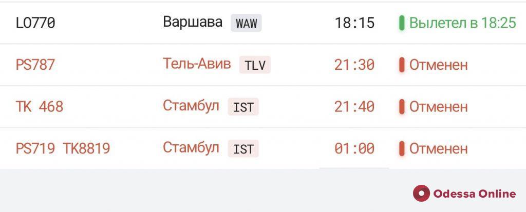В Одесском аэропорту при посадке задымился самолет (обновлено)