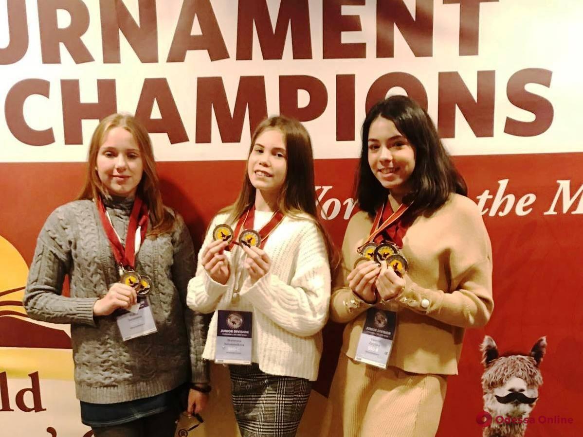 Одесские школьницы стали призерами международной интеллектуальной олимпиады