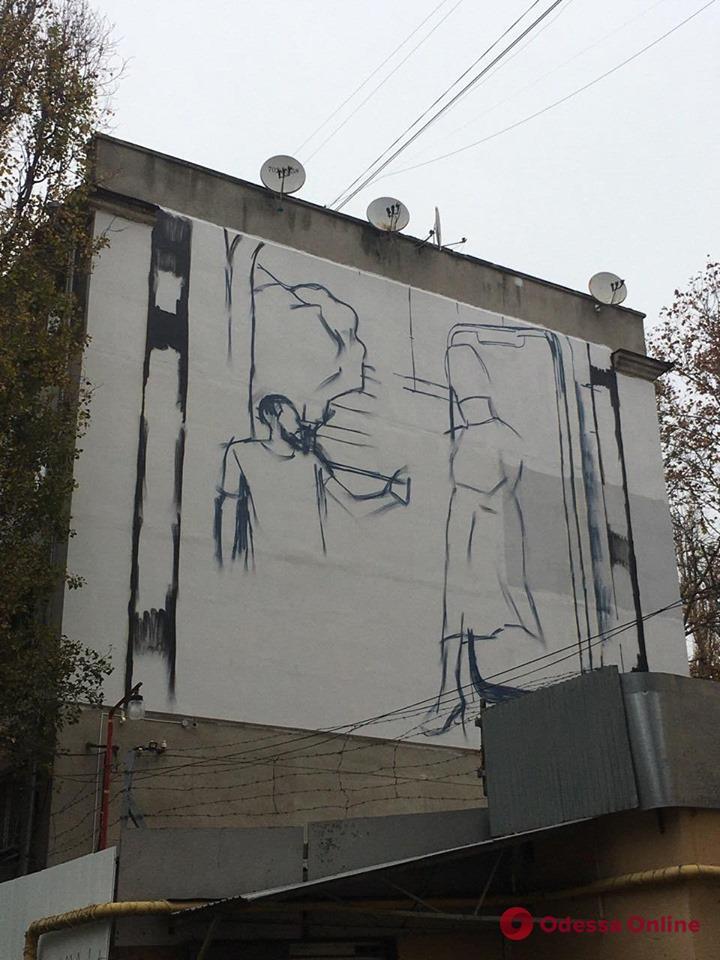 На Сегедской рисуют новый мурал