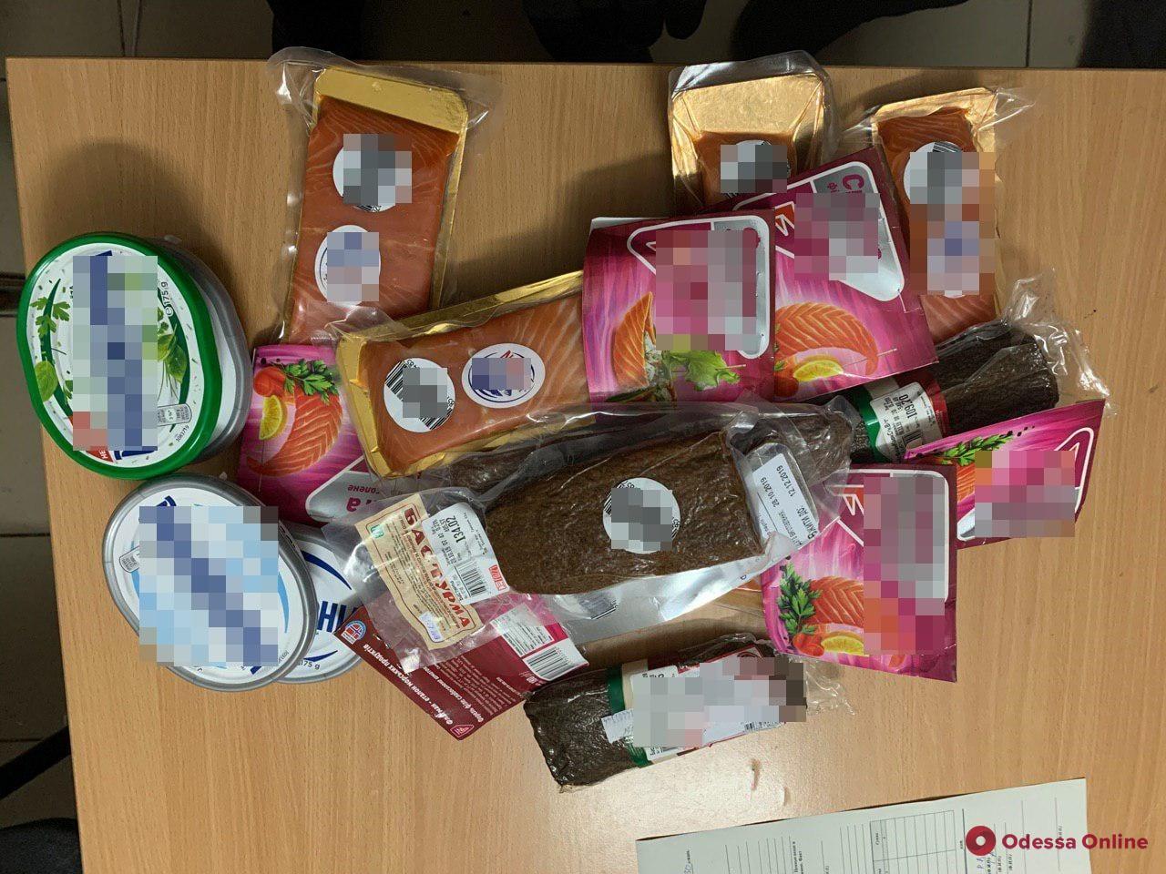В Одессе поймали продуктового вора