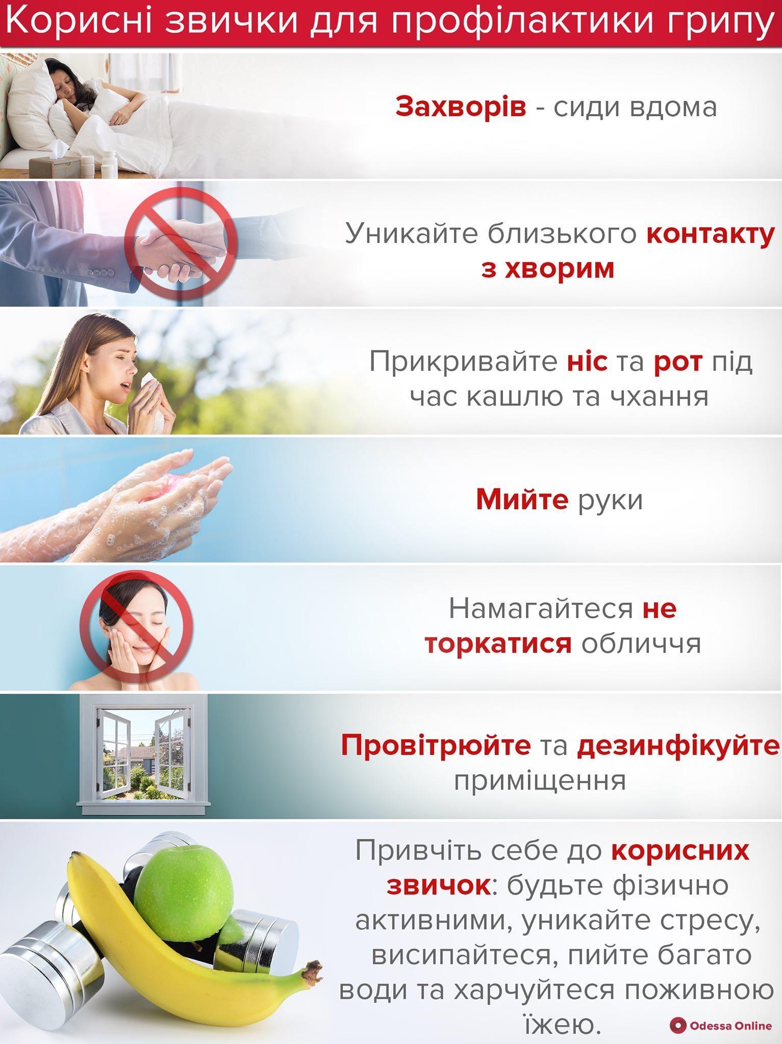 На прошлой неделе гриппом и ОРВИ заболели 5 тысяч одесситов