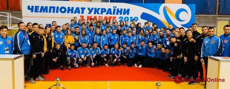 Сборная Одесской области триумфально выступила на чемпионате Украины по каратэ