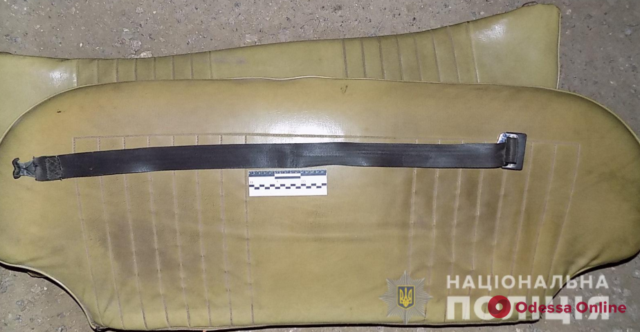 Жительница Одесской области задушила возлюбленного ремнем безопасности