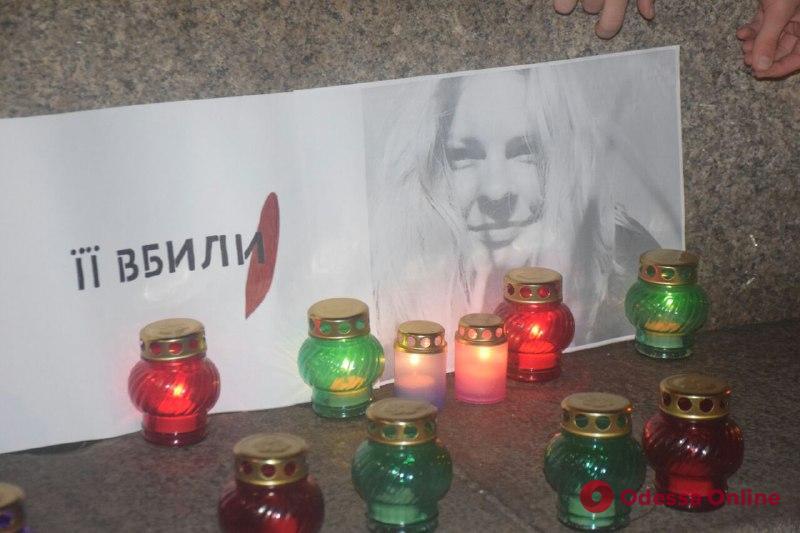 Год без Кати Гандзюк: в Одессе прошла акция памяти убитой активистки