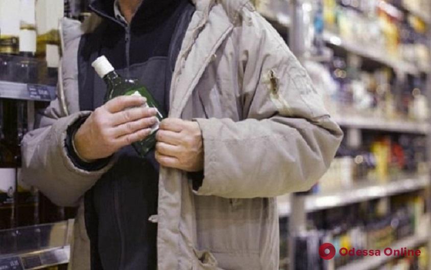 Одессит воровал из супермаркетов элитный алкоголь и продавал его