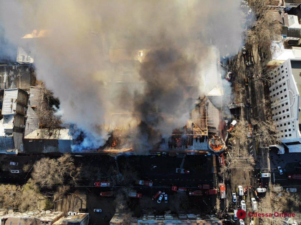 Пожар на Троицкой (фото с квадрокоптера)