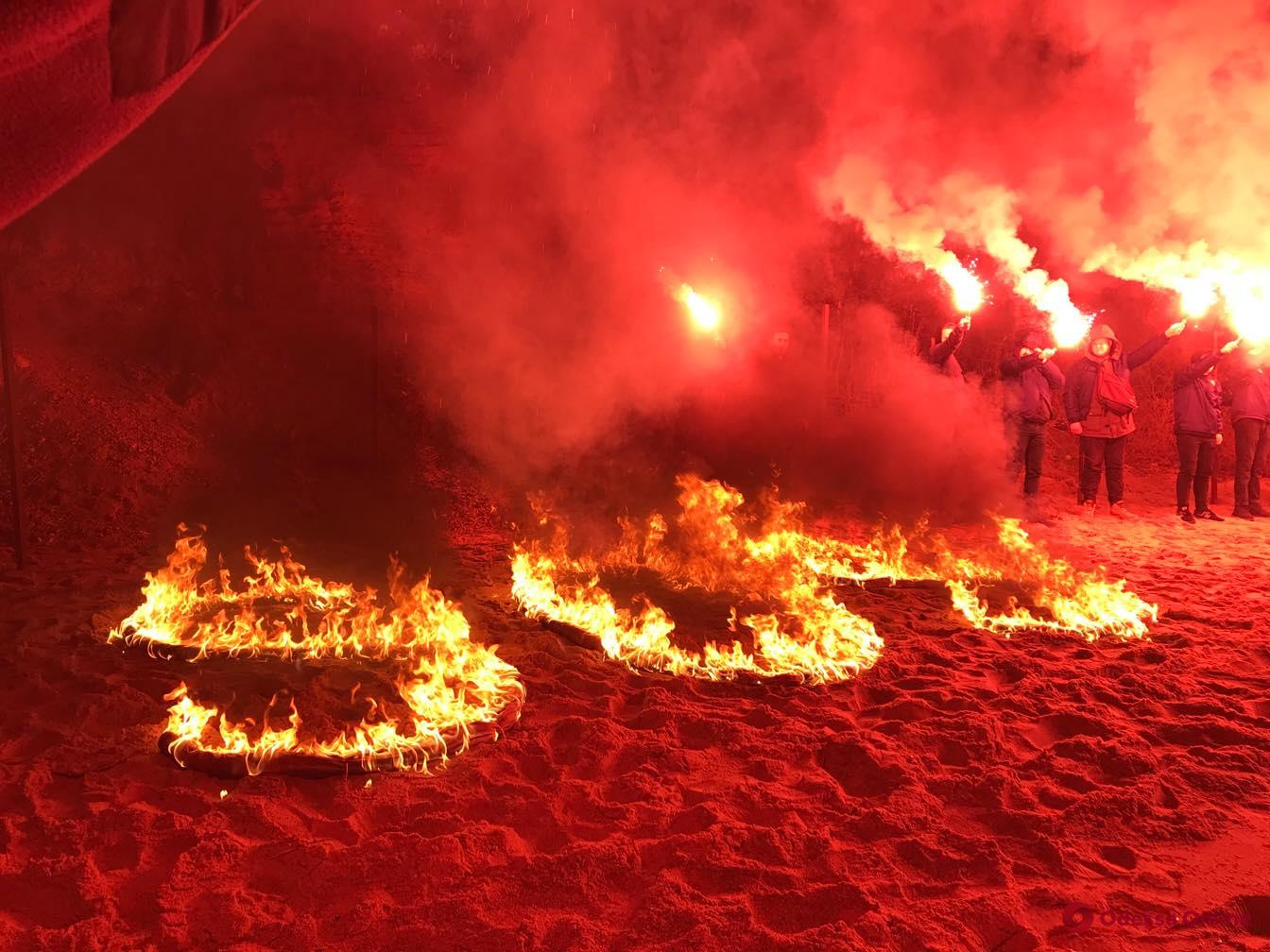 Одесские активисты провели акцию против застройки побережья (видео)