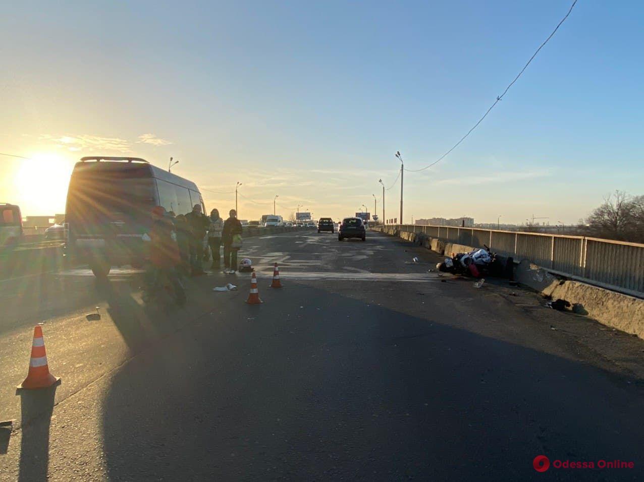 В ДТП на Овидиопольской дороге погиб мотоциклист
