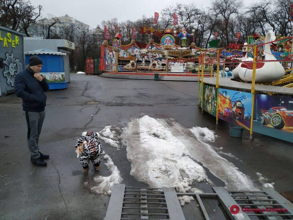Зима по-одесски в парке Шевченко (фоторепортаж)