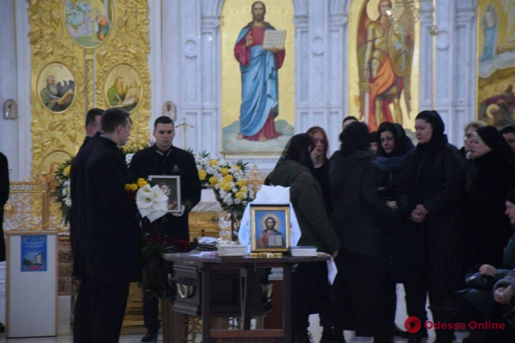В Одессе простились с погибшим при пожаре на Троицкой 16-летним студентом