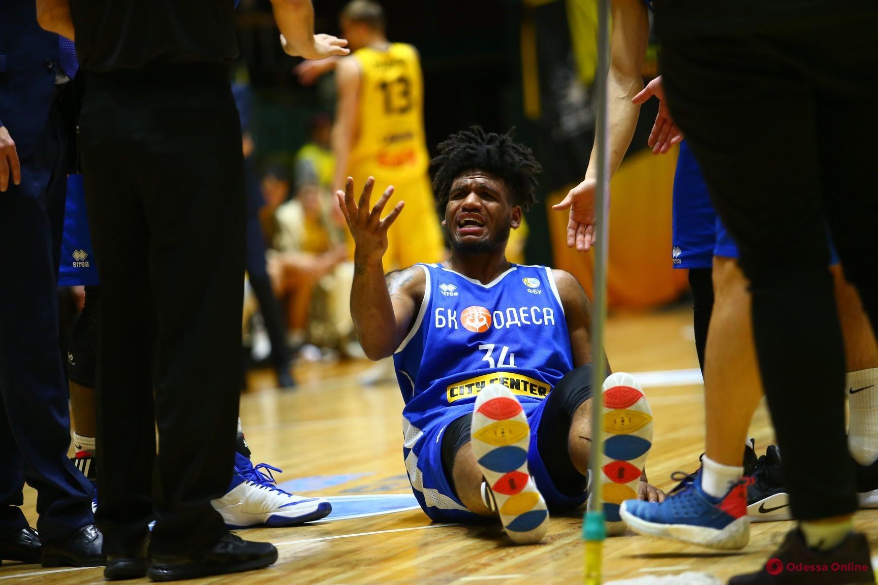 Баскетболист «Одессы» получил серьезнейшую травму и уже не сыграет в нынешнем сезоне