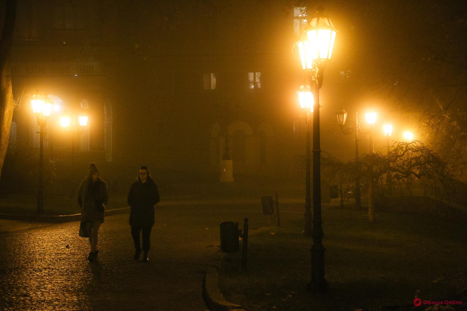 Вечерняя Одесса в тумане (фоторепортаж)