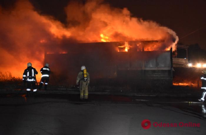 На Ланжероне тушили заброшенное кафе — из огня спасли бездомного