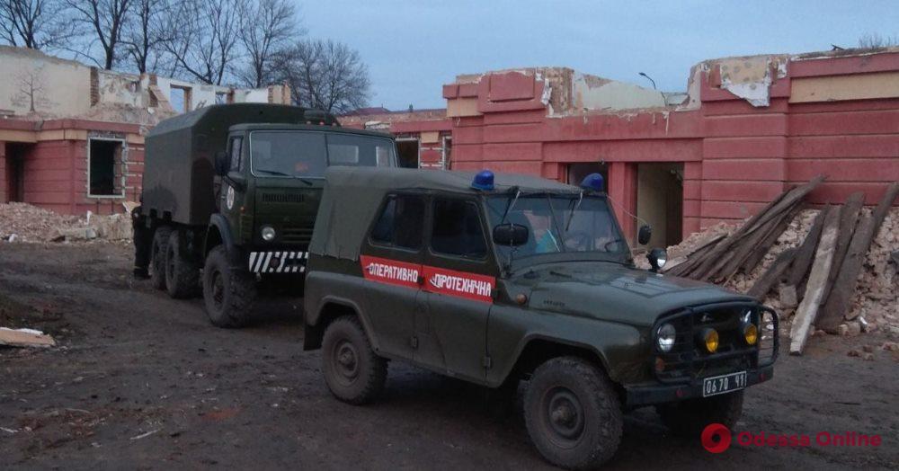 В Одесской области в стене бывшей школы обнаружили артснаряд времен Второй мировой
