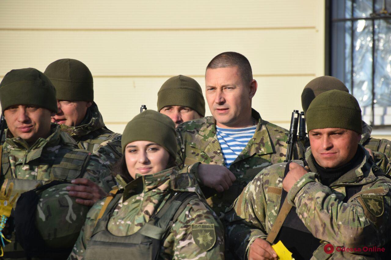 Одесса: на ротацию в зону ООС проводили бойцов батальона «Шторм» (фото)