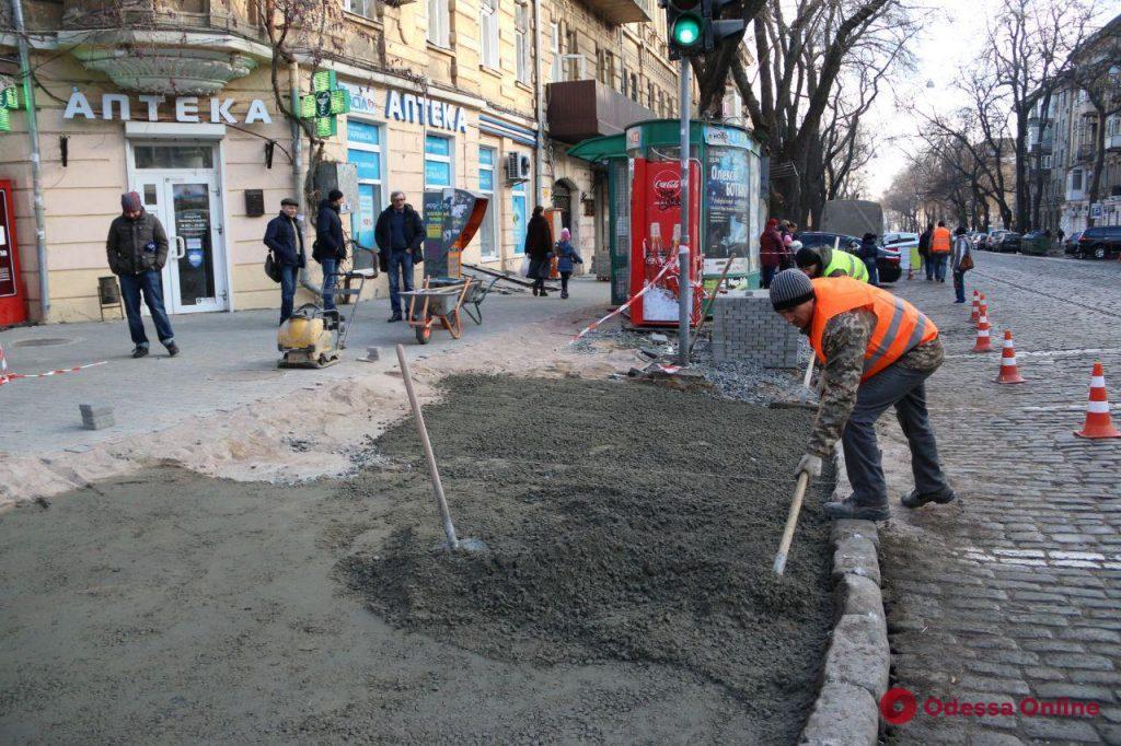 В Одессе благоустраивают улицу Нежинскую (фото)
