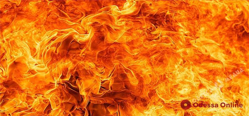 На поселке Котовского дотла сгорел автомобиль